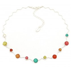 Collar metal y resina multicolor Skye18114
